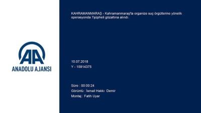 Suç örgütlerine operasyon: 7 gözaltı - KAHRAMANMARAŞ