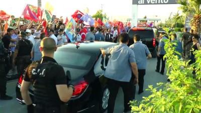 makam araci - Türkiye Cumhurbaşkanı Erdoğan'a KKTC'de sevgi gösterisi - LEFKOŞA