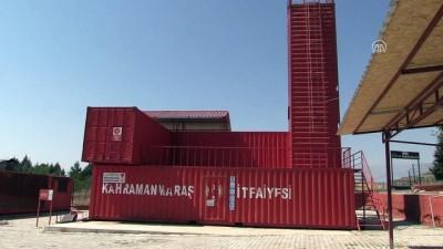 İtfaiyecilere 'korku evi'ni aratmayan eğitim istasyonu - KAHRAMANMARAŞ