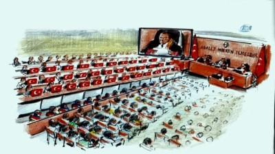 15 Temmuz Şehitler Davasında salona 34 şehit için 34 Türk bayrağı getirildi