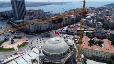 konferans -  Kubbesine kurşun dökülmeye başlanan Taksim Camii'nde son durum havadan görüntülendi
