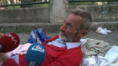 yasli adam -  Şişli Belediyesi zabıtası yürüyemeyen yaşlı adamı sokağa bıraktı