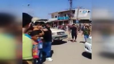 rejim -  -Suriye Ordusu Dera'da Suriye Bayrağını Göndere Çekti