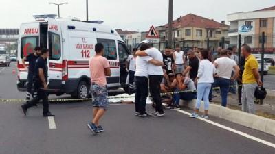 Üst geçit yerine yoldan geçmeye çalışan 16 yaşındaki çocuğa kargo kamyonu çarptı
