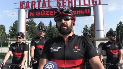 15 Temmuz şehitleri için 350 kilometre pedal çevirecekler - KAYSERİ