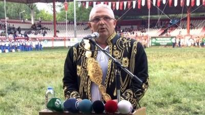 657. Tarihi Kırkpınar Yağlı Güreşleri resmi törenle başladı