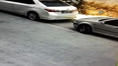 Bebek arabası hırsızlığı güvenlik kamerasında