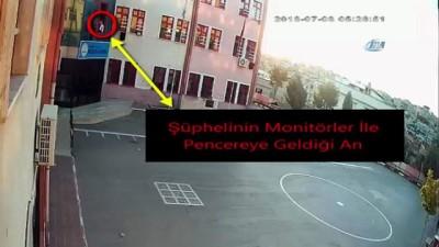 Biri gözcülük yaptı, diğeri tırmanıp monitör, kamera ve mikroskop çaldı...O anlar kamerada