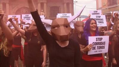 İspanya'da boğa güreşi protestosu