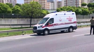 TEM'de motosikletle otomobil çarpıştı: 1 yaralı - İSTANBUL