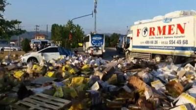 Balıkesir'de zincirleme kaza...Ortalık savaş alanına döndü