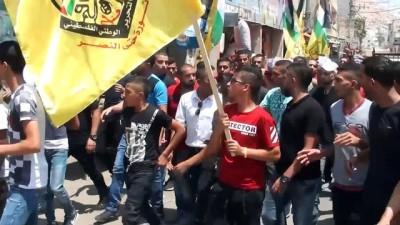 Batı Şeria şehidini uğurladı - NABLUS