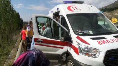 İki aracın çarpışması sonucu meydana gelen trafik kazasında 2 kişi yaralandı