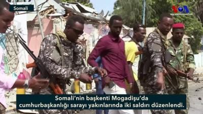 Somali'de Cumhurbaşkanlığı Sarayı Yakınında İki Saldırı