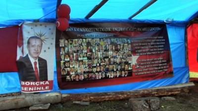 2 bin 400 metrede 15 Temmuz Demokrasi Bayramı kutlandı