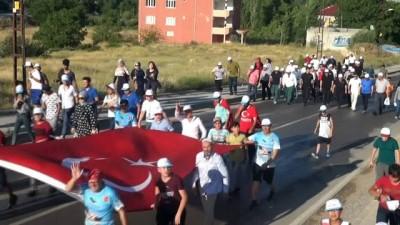 Afşinliler 15 Temmuz şehitlerini anmak için Eshab-ı Kehf'e yürüdü
