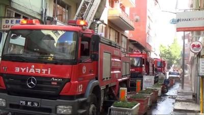 Burdur'da çatı yangını korkuttu
