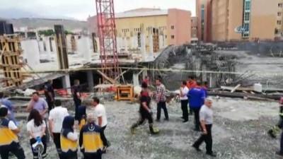 Erzincan'da inşaatta göçük: 3 yaralı