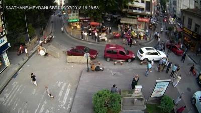Samsun'daki park yeri kavgası MOBESE'de