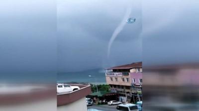Şiddetli yağış ve fırtına Rize açıklarında hortuma neden oldu