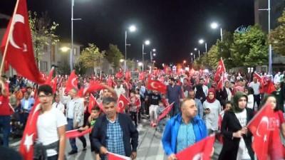 Sivas'ta 15 Temmuz Demokrasi ve Milli Birlik Günü'ne yoğun ilgi