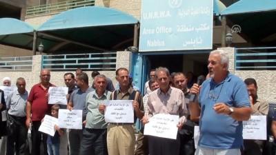Batı Şeria'da UNRWA protestosu - NABLUS