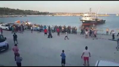 Enez'de trol tekneleri ile avlananlara tepki - EDİRNE