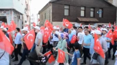 Sinop'ta 15 Temmuz Milli Birlik ve Beraberlik Yürüyüşü
