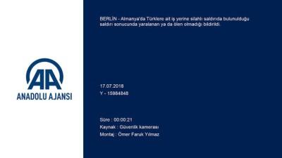 Almanya'da Türk iş yerine silahlı saldırı - BERLİN