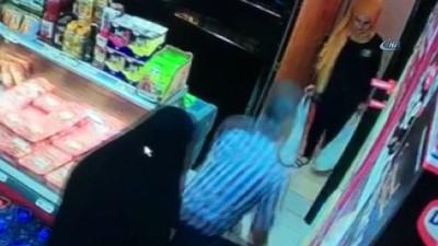 Çarşafla bir günde 22 teneke zeytinyağı çaldılar... Hırsızlık anı kamerada