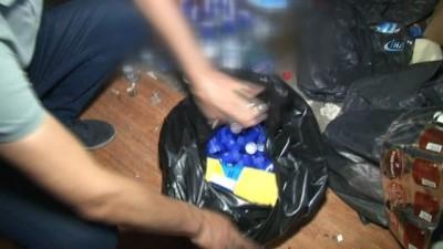 Gaziosmanpaşa'da yapılan operasyonda 5 bin şişe kaçak ve sahte içki ele geçirildi