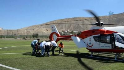 yasli adam -  Kalp krizi geçiren vatandaşın imdadına hava ambulansı yetişti