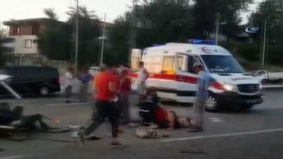 polis -  Kazada otomobil ikiye bölündü: 4 Yaralı