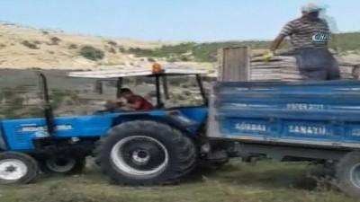 cep telefonu -  Traktörü çocuk kullandı büyükler yönlendirdi