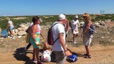 Yabancılar kıyı temizliğine dikkat çekti