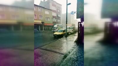 İstanbul'da dolu yağışı etkisini göstermeye başladı