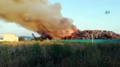 Osmaniye'de geri dönüşüm fabrikasında büyük yangın