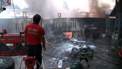 Plastik geri dönüşüm fabrikasında dev yangın