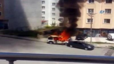 uttu -  Başkent'te araç yangını korkuttu
