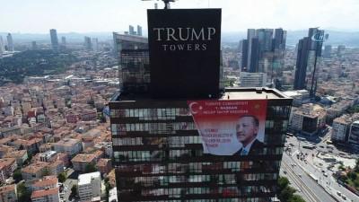 Cumhurbaşkanı Erdoğan'ın posteri, Trump Towers'da