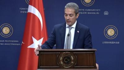 basin toplantisi - Dışişleri Sözcüsü Aksoy: 'NATO harekatlarına en fazla destek veren ilk 5 ülkeden biriyiz' - ANKARA