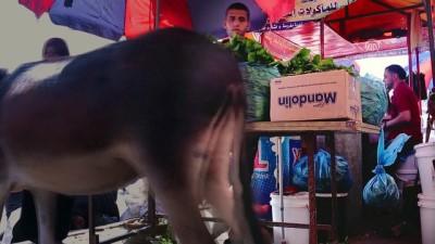 İsrail'in yaraladığı Filistinli genç koltuk değneğiyle geçim mücadelesi veriyor - GAZZE