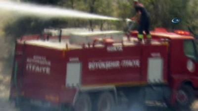 Konya'da ormanlık alana sıçrayan yangın büyümeden söndürüldü