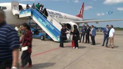 Kuveyt'ten Samsun Havalimanı'na ilk uçak indi