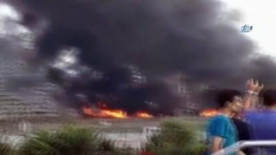 Zeytinburnu'nda metruk tekstil atölyesinde korkutan yangın