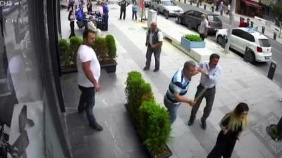 bicakli kavga -  İstanbul'da damat dehşeti kamerada