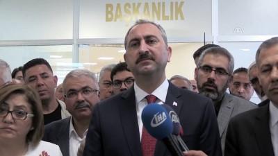 basin mensuplari - Adalet Bakanı Gül: '(Terörist cenazesine katılan HDP'li vekillere soruşturma) Herkes hukuka, kanuna, nizama uymak zorundadır' - GAZİANTEP