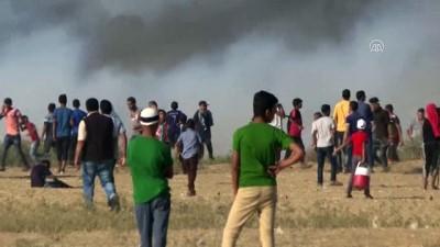 İsrail'in Gazze Şeridi'ndeki Han Yunus kentinin doğusunda düzenlediği saldırıda 1 Filistinli şehit oldu