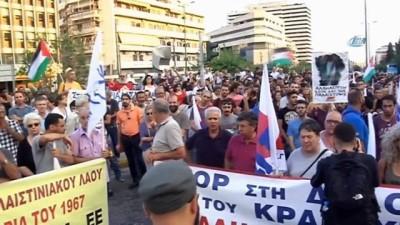 - Yunanistan'da Filistin'e Destek Gösterisi