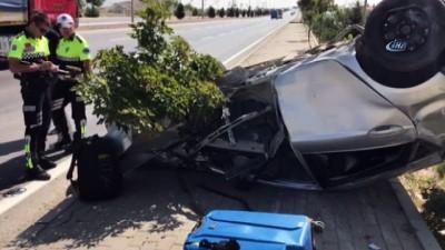 trafik kazasi -  Afyonkarahisar'da trafik kazası; 3 yaralı